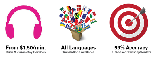 Transcription Services in any language